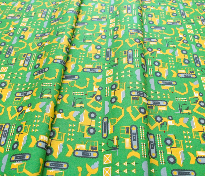 Moda Fabrics On The Go 20724-15 Let's Build Green Light