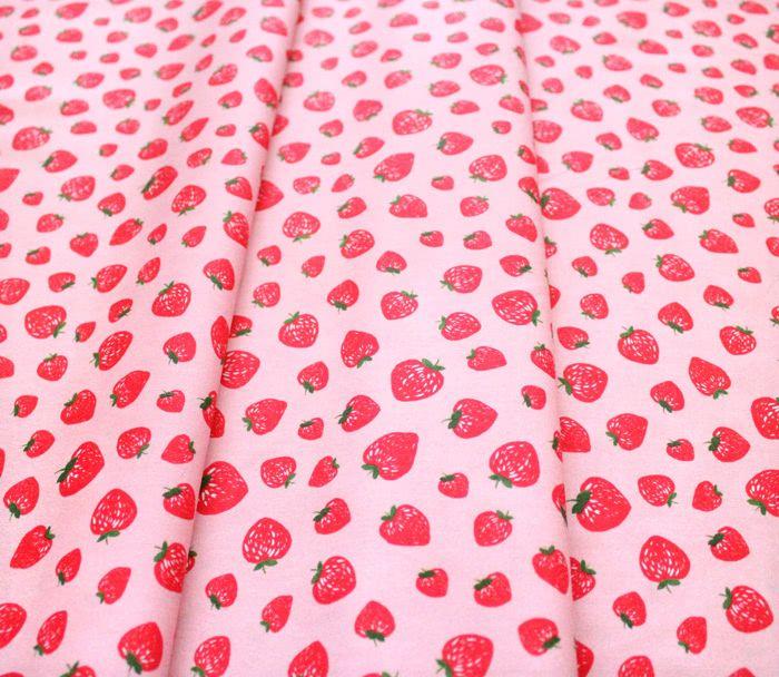 Michael Miller Fabrics Kiss The Cook CX8106-SHEL Strawberry Jam Pink