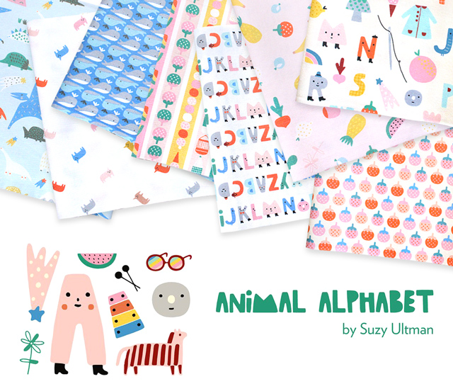 Paintbrush Studio Fabrics Animal Alphabet Collection 入荷