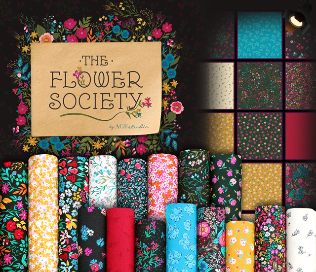 Art Gallery Fabrics The Flower Society Collection 入荷