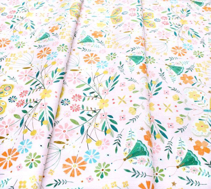 Dashwood Studio Hedgerow 1837 Butterflies Pink