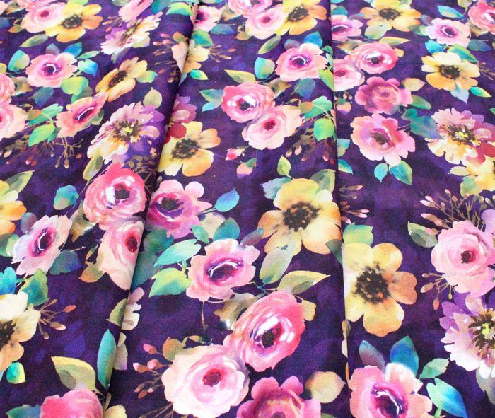 Michael Miller Fabrics Floral Fancy DCX9693-PURP Delicate Breeze Purple