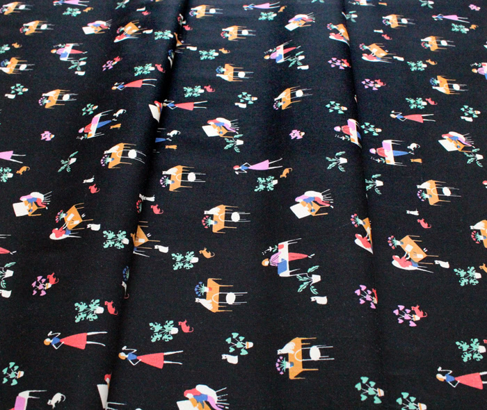Camelot Fabrics Oxford 71190408-01 The Library Black