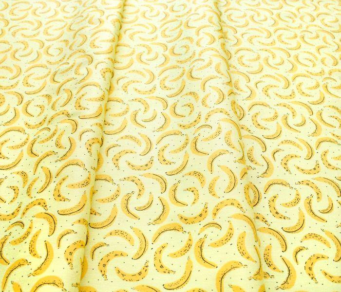 Camelot Fabrics Feelin' Fruity 30200205-1 Bananas Yellow