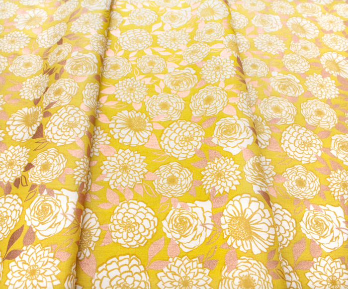 Ruby Star Society Stay Gold RS0022-11M Sparkle Floral Flower Goldenrod