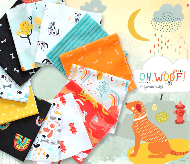 Art Gallery Fabrics Oh, Woof! Collection 入荷
