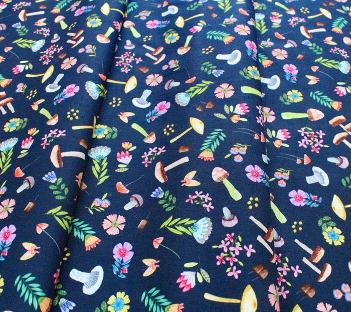 Michael Miller Fabrics Be Kind to Everything That Grows DDC9770-NAVY Woodland Whimsy Navy