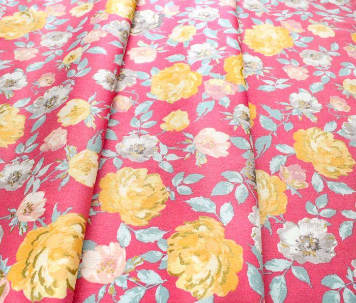 RJR Fabrics Summer Rose PS200-SU3M Lorraine Sunset Metallic