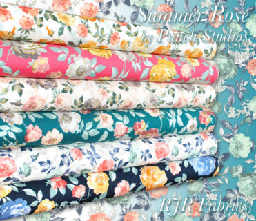 RJR Fabrics Summer Rose Collection by Punch Studios