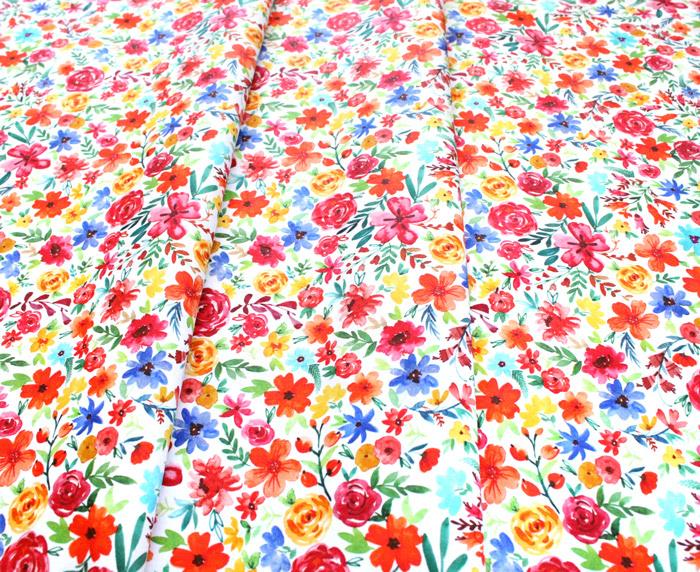 Michael Miller Fabrics Everyone is Invited DCX9800-CREM Flower Joy Cream
