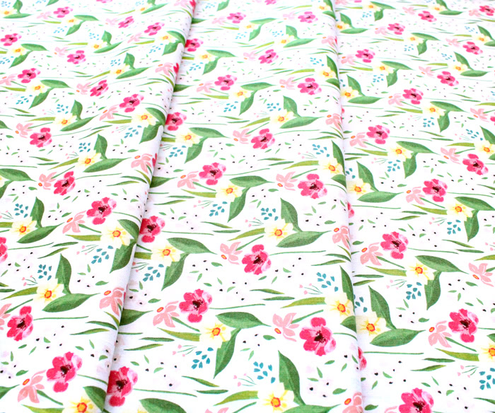 Windham Fabrics Cora 52360-1 Happy Floral White