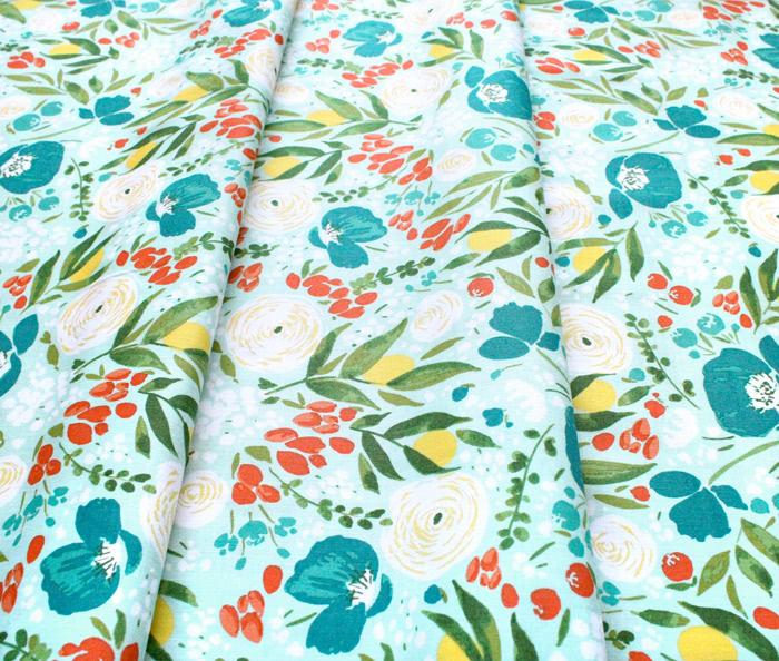 Windham Fabrics Cora 52359-2 Cora Floral Aqua