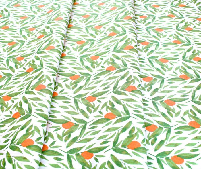 Windham Fabrics Cora 52362-1 Kumquats White