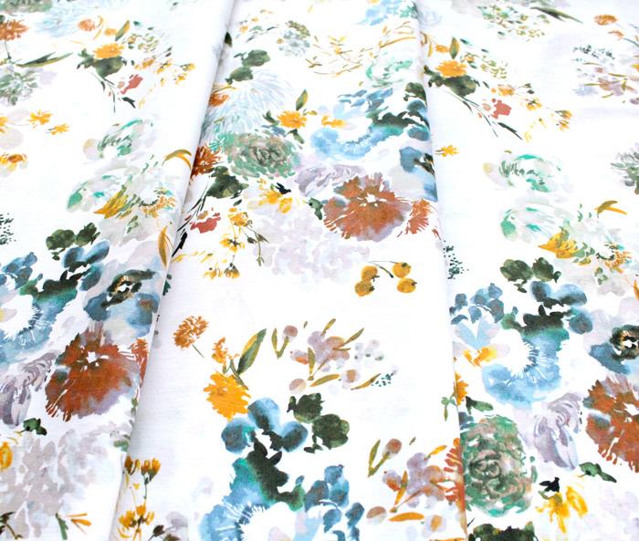 Windham Fabrics Wildflower 52251-2 Wild Flower Teal