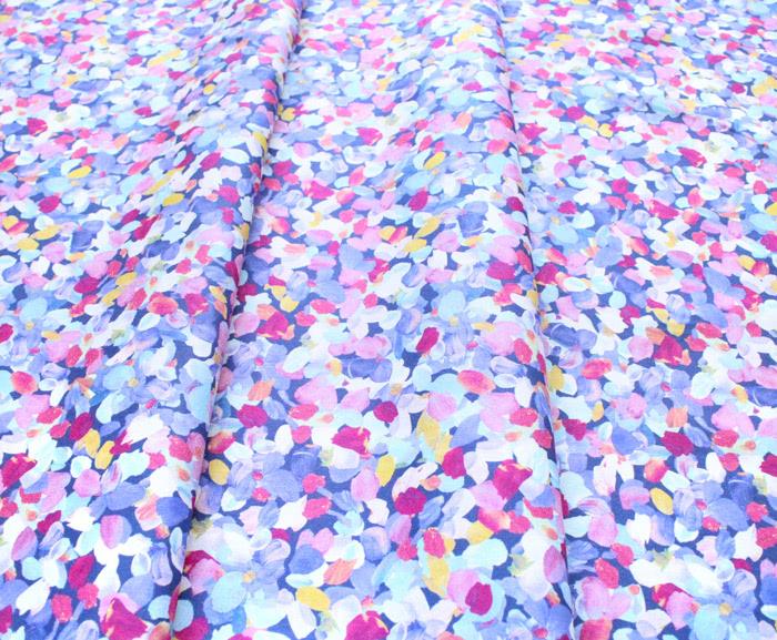 Robert Kaufman Fabrics Painterly Petals SRKD-20265-61 Confetti Flower Petals Periwinkle