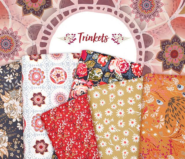 Art Gallery Fabrics Trinkets Fusion Collection 入荷